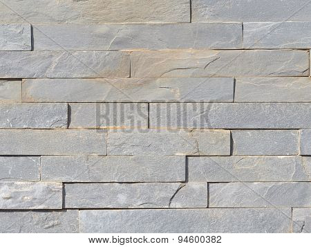 Wall From A Rough Gray Natural Stone