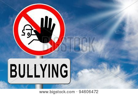stop bullying no harassment or threat at school or at work stopping an online internet bully  poster