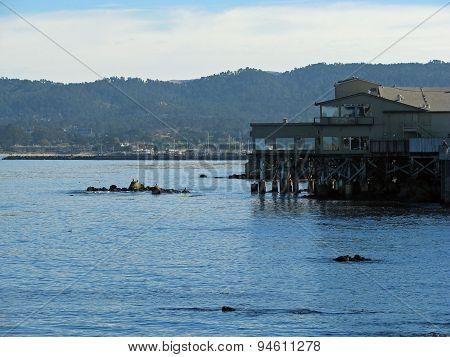 MONTEREY CALIFORNIA - NOVEMBER 14: Exterior View of the Monterey Bay Aquarium 2012