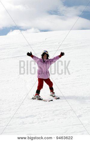 Teenager Girl On Ski Vacation