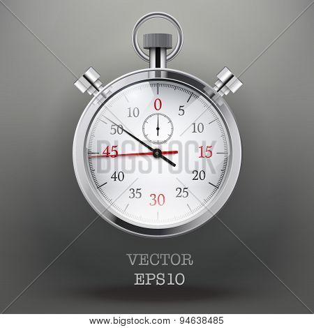 Background with analog stopwatch.