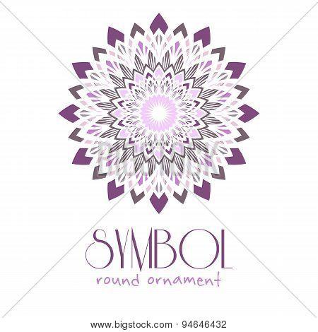 Ornamental logo template design. Vector circular symbol