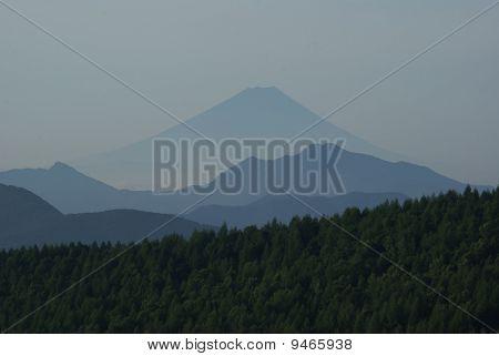 Silhouette of Mt Fuji