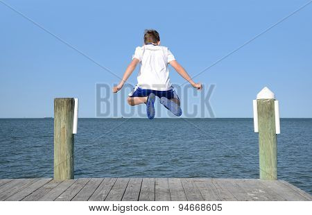Leaping Off Dock