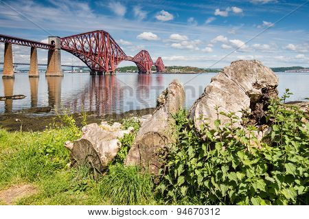 Forth Bridge On A Sunny Day