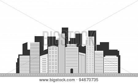 City landscape grey