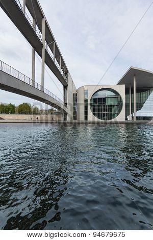 Berlin, german chancellery building (Bundeskanzleramt) near Reichstag.