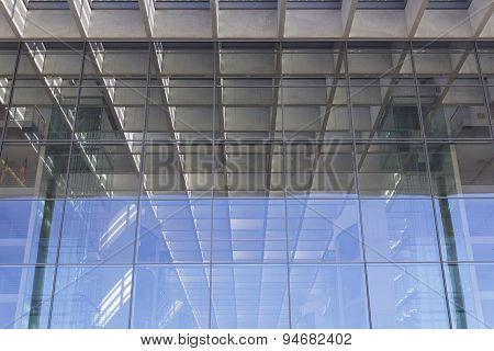 modern office building facade / detail