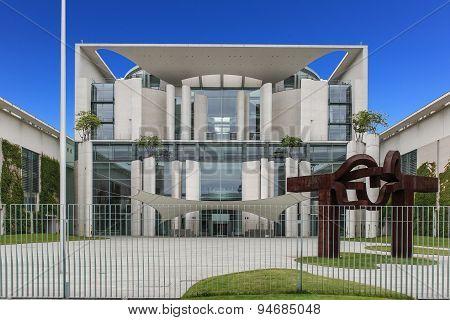 german chancellery - federal building, berlin, germany