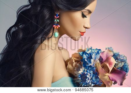 Lady With Flowers