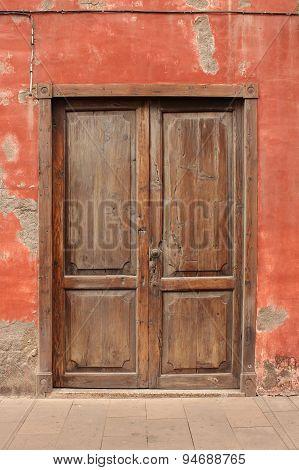 old wooden door - vintage wood door