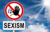 stop sexism no gender discrimination and prejudice or stereotyping for women or men poster