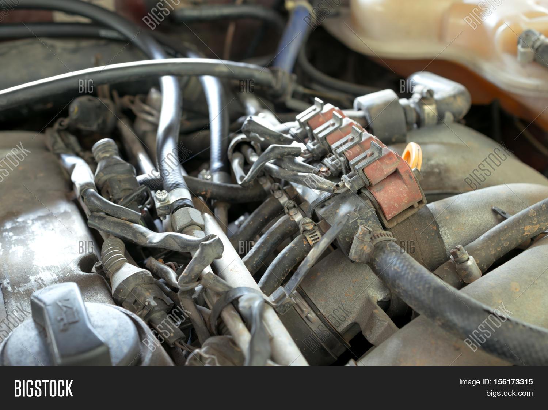 Lpg Car Injectors Old Car Engine Image & Photo | Bigstock