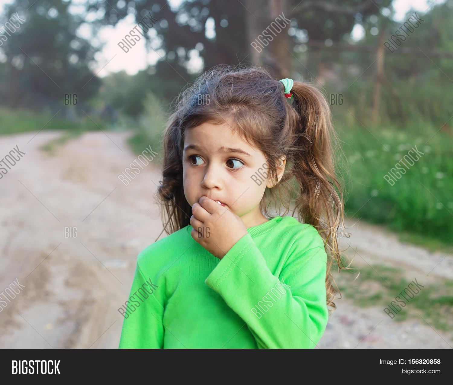 Sad Cute Little Girl Image  Photo Free Trial  Bigstock-3986