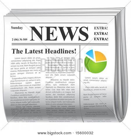 icono de noticias de Vector