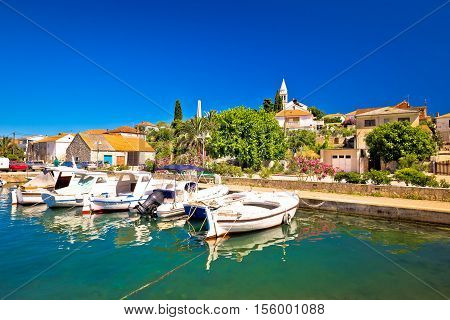 Town of Kali turquoise waterfront island of Ugljan Croatia
