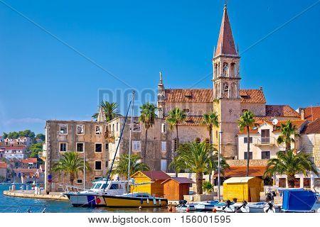 Town of Milna historic skyline Island of Brac Dalmatia Croatia