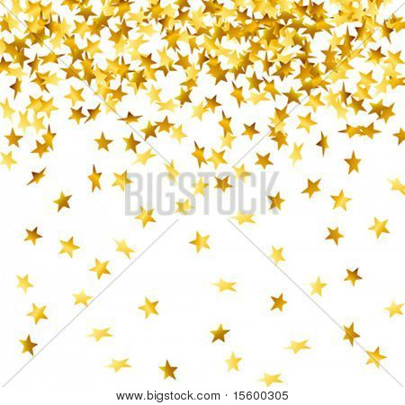 vector of falling down stars shaped confetti