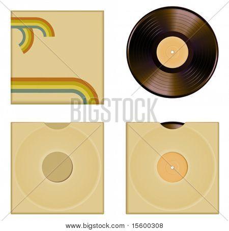 vector illustration of vinyl cover set