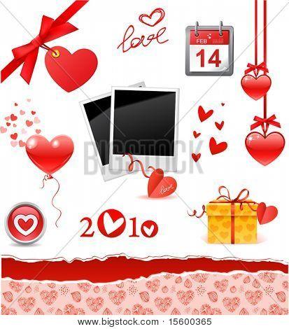 valentine's set (vector illustration)