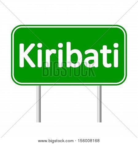 Kiribati road sign isolated on white background.