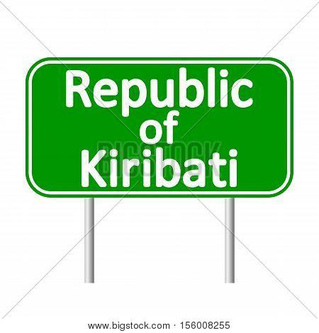 Republic of Kiribati road sign isolated on white background.