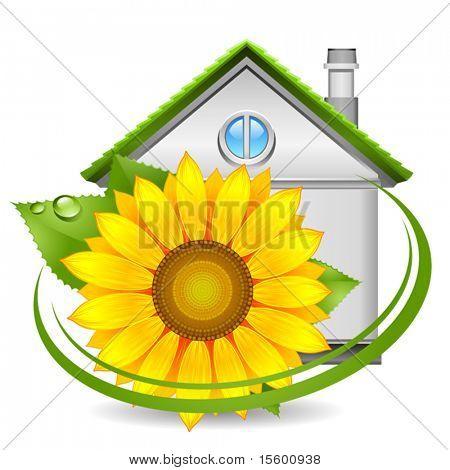 Grünes Haus-Symbol