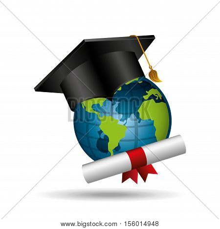 distance education graduation icons vetor illustration eps 10