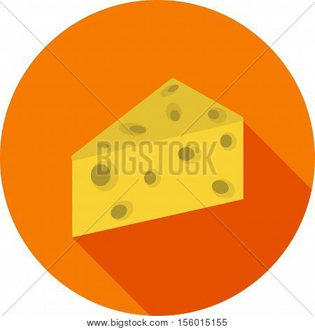 Cheese, cheddar, appetizer icon vector image. Can also be used for farm. Suitable for use on web apps, mobile apps and print media