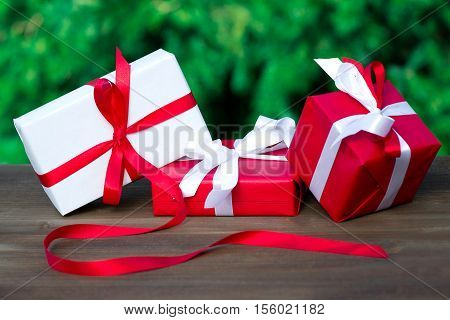 Christmas or New Year's gifts and souvenirs