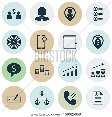 Set Of Human Resources Icons On Business Goal, Successful Investment And Job Applicants Topics. Edit