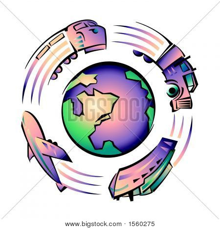 Transport Or Travel Around Earth