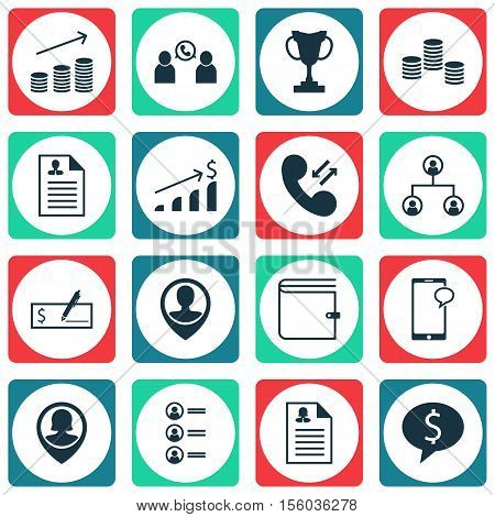 Set Of Management Icons On Job Applicants, Tree Structure And Female Application Topics. Editable Ve