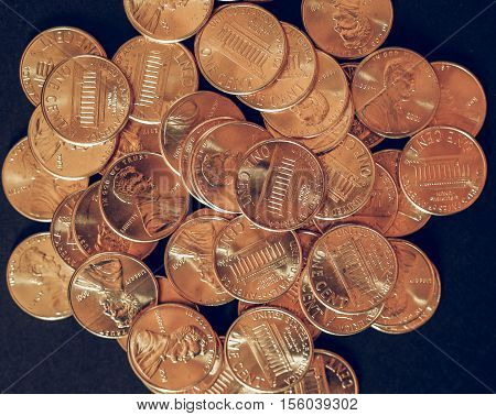 Vintage Dollar Coins 1 Cent Wheat Penny Cent