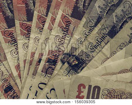 Vintage Pound Notes