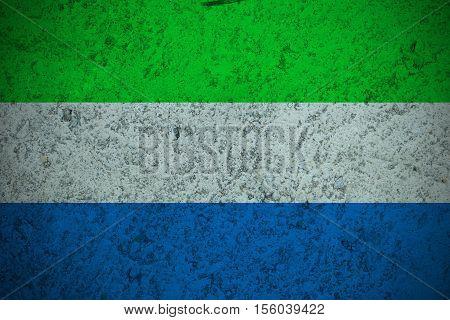 Sierra Leone flag ,Sierra Leone national flag illustration symbol.