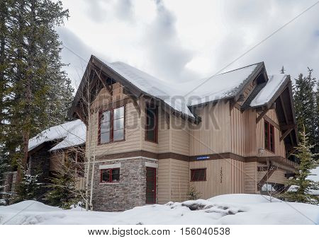 Guest House At Ski Resort In Utah. Usa