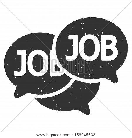Labor Market rubber seal stamp watermark. Icon vector symbol with grunge design and dust texture. Scratched gray ink sign on a white background.