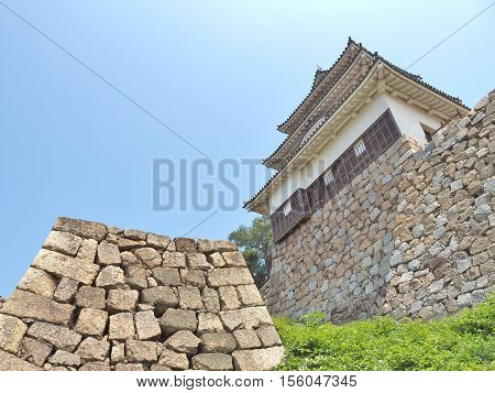 Marugame Castle, also known as Kameyama Castle is a Japanese castle in Marugame, Kagawa Prefecture, Japan. This castle is a hilltop castle and one of only 12 Japanese castles with the original keep.