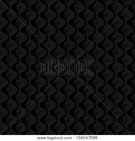 Black Seamless quilted pattern . Vector illustration