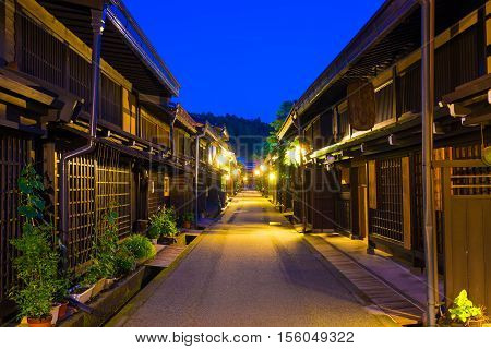 Centered Wooden Houses Hida-takayama Old Town