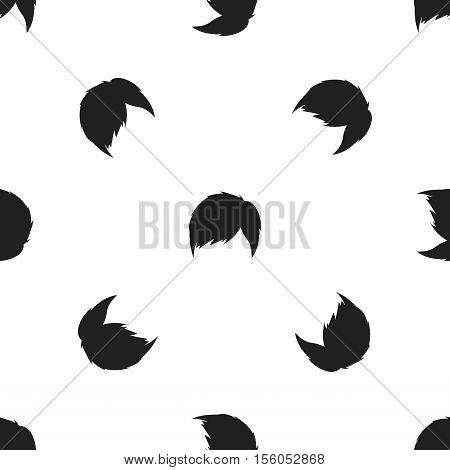 Man's hairstyle icon in black style isolated on white background. Beard pattern symbol vector illustration.