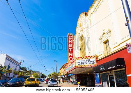 San Francisco Castro Street Area Theater Shops H