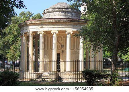 An ancient Greek temple in Corfu, Greece
