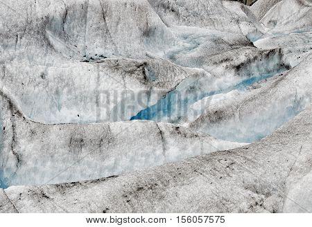 Moulin at Mendenhall Glacier Juneau Alaska, USA