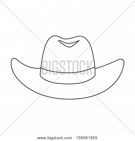 Cowboy hat icon in outline style isolated on white background. Hats symbol vector illustration.