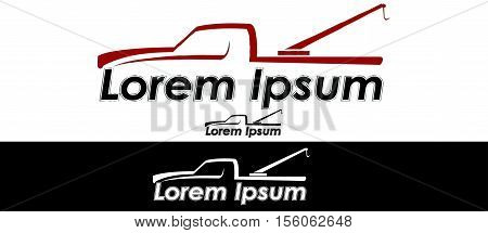 Icon for towing companies business identity logo