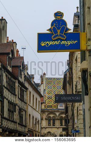 Street Scene In Dijon