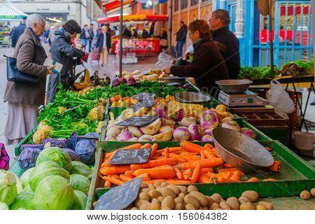 Market Scene In Dijon