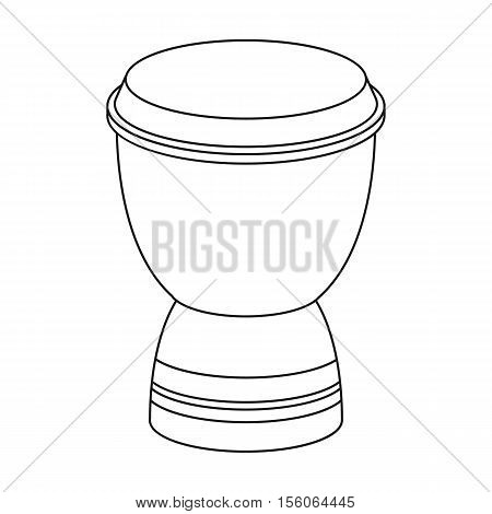 Goblet drum icon in outline style isolated on white background. Turkey symbol vector illustration.